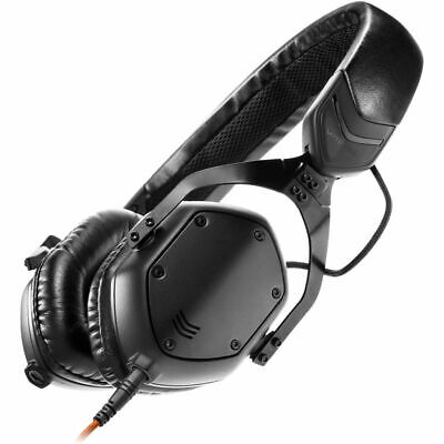 V-Moda XS Matte Black On-Ear Metal Headphones - SteelFlex Headband Inc Warranty • 139£