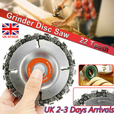 Angle Grinder Discs Tooth Chain Saw 4  22 Teeth Metal Chainsaw Tool For Carving • 6.59£