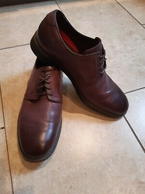 Rockport Mens Shoes...size 9, Brown/Oxblood Hint Used/Other Terrific Condition • 22£