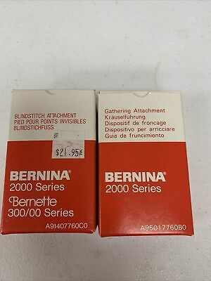 $29.95 • Buy Bernina Bernette Serger 2000 Series Gathering, Blindstitch Attachment, Funlock