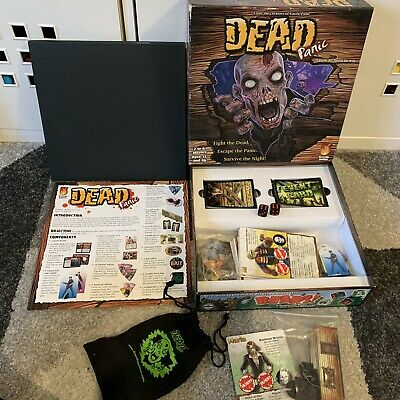 Dead Panic Board Game Fireside Games  100% COMPLETE Zombies Halloween RARE • 18.99£