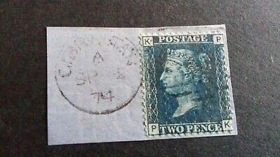 Queen Victoria, Two Pence Plate 14, On Piece From Gibraltar • 2.32£