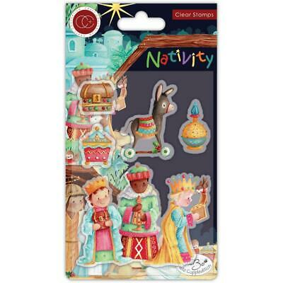 Wise Men CHRISTMAS Nativity Clear Rubber Stamp Set Craft Consortium CCSTMP048 • 7.39£