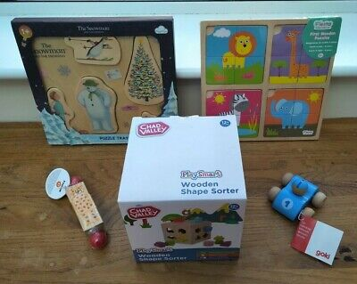 Wooden Toy / Puzzle Bundle Age 1 / 2 + Stocking Fillers One / Two Year Old • 20£