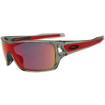 AU179.99 • Buy Oakley OO 9307-03 Turbine Rotor Grey Ink Ruby Iridium Lens Mens Wrap Sunglasses