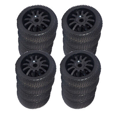 16pcs 1/8 Scale RC Buggy Wheels And Tyres Black For HSP HPI Racing Car • 41.38£