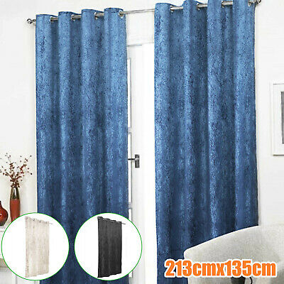 £14.59 • Buy 3 Colors Door Curtain Thermal Reduces Draughts Lined Prevents Winter Heat Loss