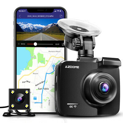 AU99.99 • Buy AZDOME GS63H 4K Front And Rear Dash Cam With WiFi & GPS Night Vision Car DVR
