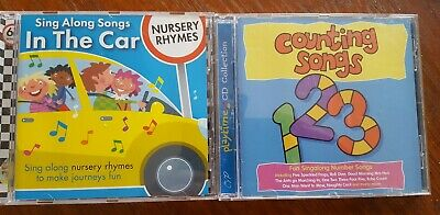 X2 CDs Counting Songs & Sing Along Songs In The Car Preschool Toddler Education • 4£