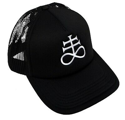£12.55 • Buy Leviathan Cross Alchemy Satanic Trucker Cap Embroidered Gothic Witch Halloween