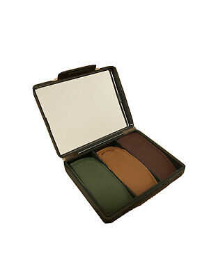 Compact British Army MOD Military Camouflage Face Paint Cam Cream Woodland Camo • 6.85£
