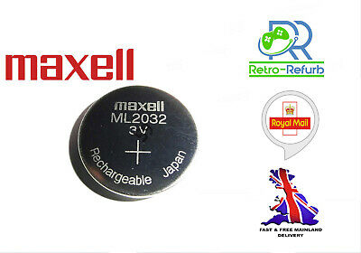 AU7.84 • Buy NEW ML2032 ML 2032 Rechargeable CR2032 CR 3V Coin Button Cell Battery Batteries