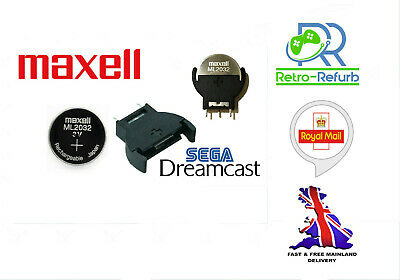 AU9.74 • Buy Replacement Battery For Dreamcast Maxell ML2032 With Battery Holder