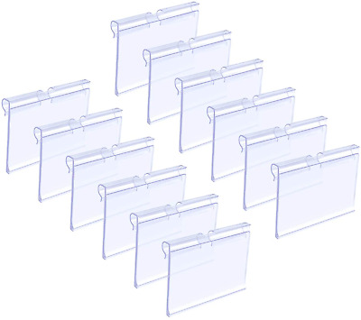 Matogle 70pcs Clear Plastic Label Holders Sign Display Holder For Retail Price • 12.12£