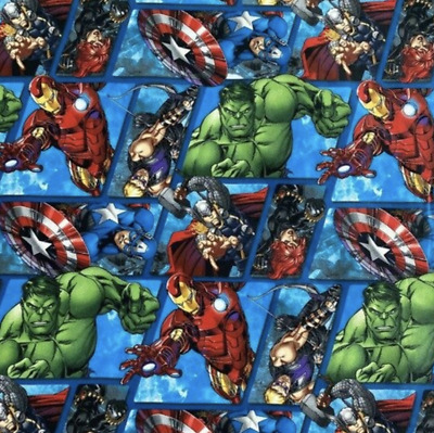 Comics Super Hero Avengers  Cotton Fabric 1 Meter • 16£