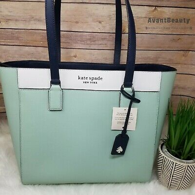 $ CDN210.45 • Buy Kate Spade Cameron Laptop Tote Large Spring Meadow Mint New With Tag Leather New