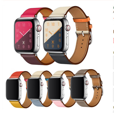 AU15.99 • Buy Leather Loop Strap For Apple IWatch 6 5 4 3 2 1 SE 38m 40mm 42mm 44mm Watch Band