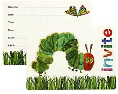 12 Hungry Caterpillar Invitations & Envelopes Birthday Party Invites Supplies • 2.85£