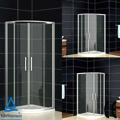 Quadrant Shower Enclosure Easy Clean Glass Cubicle Door Stone Tray And Riser Kit • 206.99£
