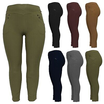 £9.99 • Buy New Ladies High Rise Plus Size Skinny Fit Womens Stretch Trousers Jeggings