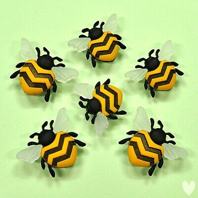 £2.99 • Buy DRESS IT UP Buttons Bee Happy 9382 - Embellishments Bugs Honey Bees