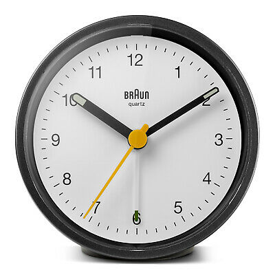 AU83.95 • Buy Black Analogue Classic Cut Alarm Clock With White Dial By BRAUN