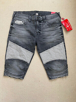 New True Religion Mens GENO CUT OFF SHORTS Size UK38 • 49.99£