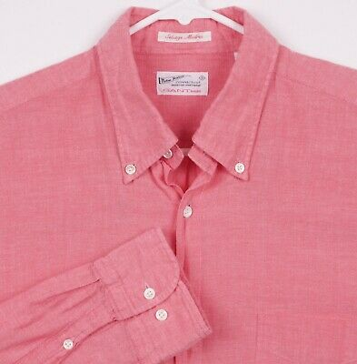 £21.20 • Buy GANT Rugger Men's Large  Selvage Madras  Pink Chambray Button-Down Shirt