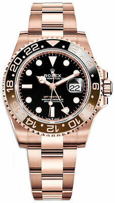 $ CDN49646.16 • Buy Rolex GMT-Master II Everose Root Beer 126715 Mens Watch With Box & Papers 40mm