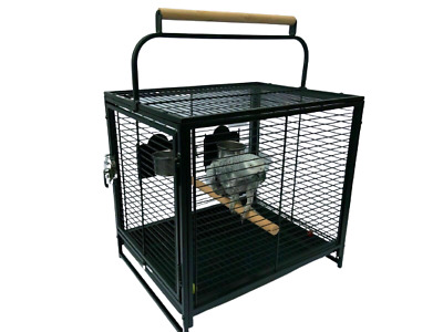 Parrot Traveller - Metal Parrot Travel Cage With, Bowls, Perch. • 27.99£