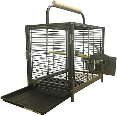 Parrot Traveller - Metal Parrot Travel Cage With, Bowls, Perch, Reduced From £89 • 27.99£