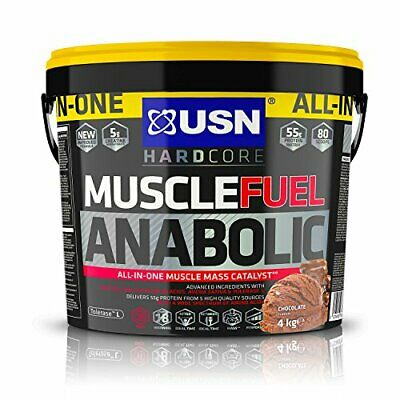 USN Muscle Fuel Anabolic Chocolate 4KG, Performance Boosting Muscle Gain Protein • 52.99£