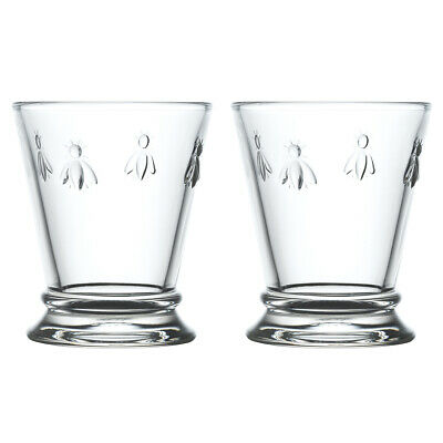 La Rochere Set Of 2 Bee Mini Tumblers, 18cl Drinks Water Glasses Decorated Glass • 13.80£