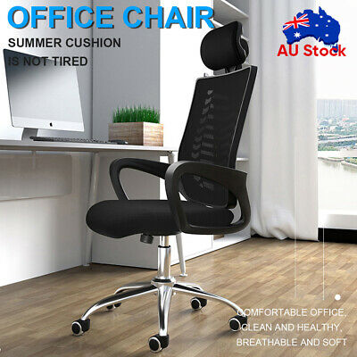 AU56.99 • Buy Ergonomic Executive Office Computer Chair Breathable Mesh Cushions Support Seat