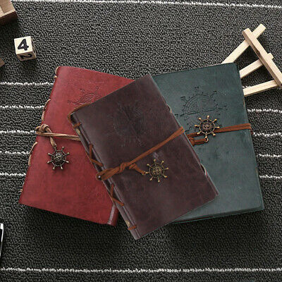 £4.19 • Buy Vintage Classic Retro Journal Travel Leather Notepad Notebook Diary Memo Gift