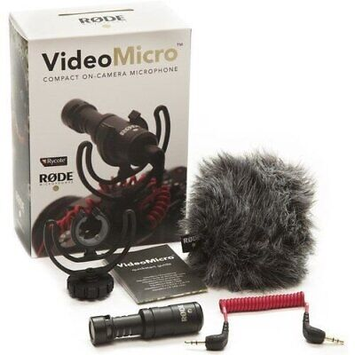 Rode VideoMicro Compact On-Camera Microphone With Shock Mount Brand New • 45.61£