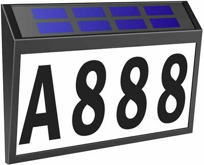 Solar LED Address Light Sign Routed Back Lighted Sign House Numbers Plaque Set • 13.99£