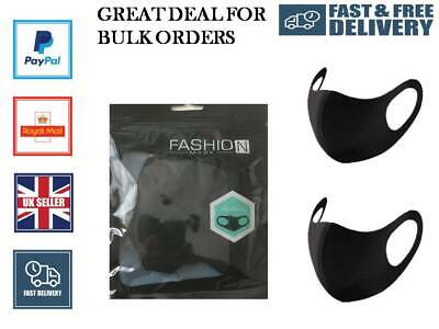 10/20/100 Lot Face Masks Reusable Washable Breathable Dust Protection UK Seller • 3.45£