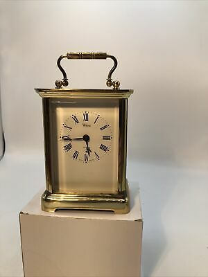 Vintage Weiss Brass Carriage Clock With Quartz Movement • 8£