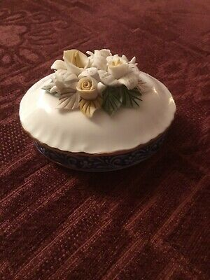 £4.99 • Buy Regal Bone China Collection Floral Pattern Lidded Trinket Dish In Box.