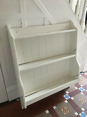 Wall Plate Display Rack White Wooden Kitchen Cabinet Mounted  W31 XH39  • 20£