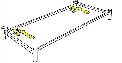 2 Ikea Beddinge Sofa Bed Hinges Left And Right, Steel • 42.55£