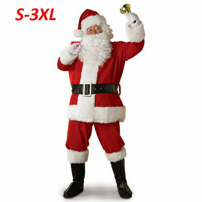 $18.99 • Buy 5PCS Christmas Santa Claus Costume Fancy Dress Adult Men Suits Cosplay Outfits