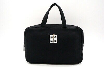 GIVENCHY Vintage Hand Mini Tote Bag Logo Embroidery Canvas Black 2646h • 99.23£