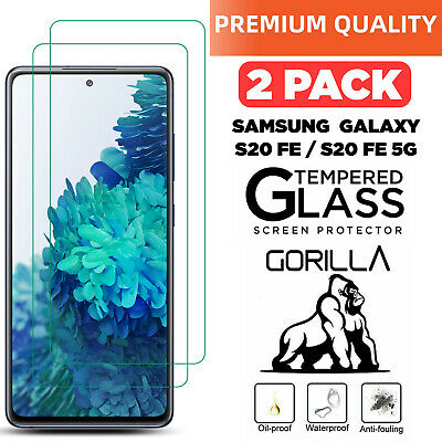£2.99 • Buy 2 Pack Genuine TEMPERED GLASS Screen Protector For Samsung Galaxy S20 FE / FE 5G