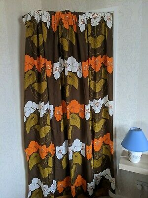 Original Vintage Late 60's/Early 70's Curtains (long) • 125£