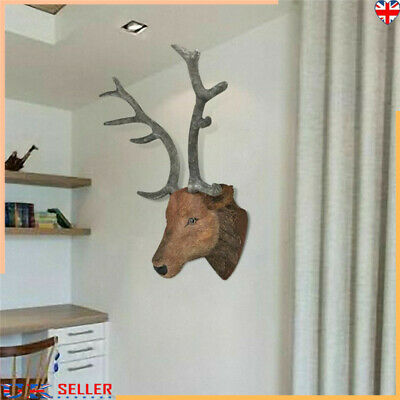 Wall Mounted Deer Head Stag Head Wall Hangings Decoration Home Decor 35x65x30 Cm • 43.09£