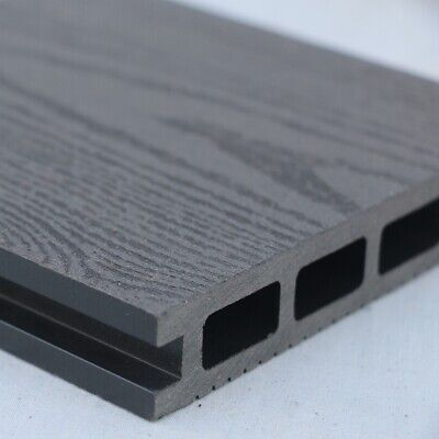 £13.50 • Buy Grey Wood Effect Composite Decking | 40 Board Pack | Covers 16 Square Metres