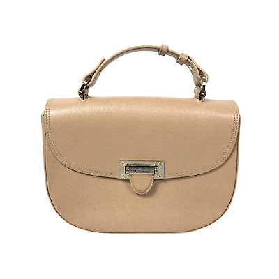 Aspinal Of London Ladies Small Letterbox Saddle Bag Beige Tan Leather Handbag • 74.95£