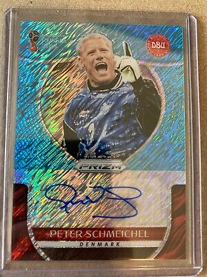 Panini Prizm 2018 World Cup Blue Shimmer Peter Schmeichel S-PS Auto  • 217.50£